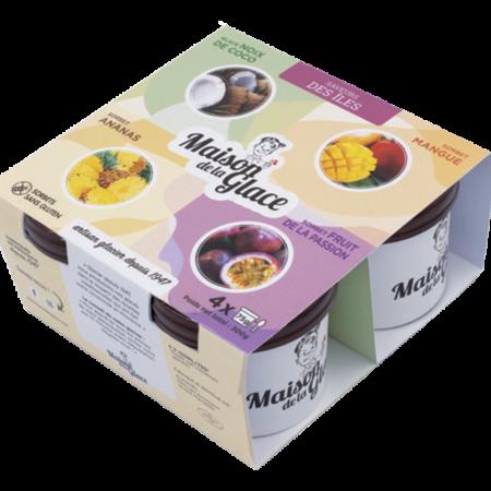 Pack glaces saveurs des Iles Maison de la Glace