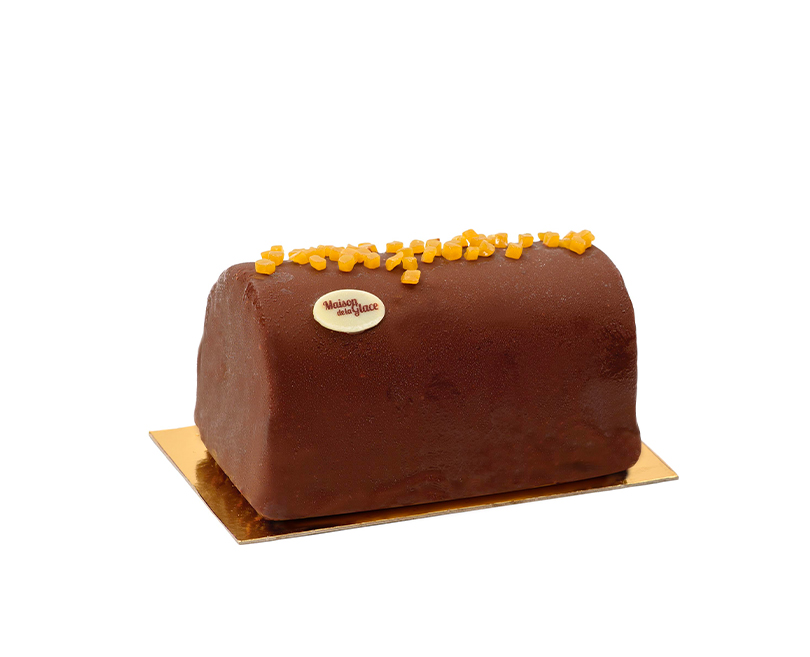 Bûche artisanale Chocolat Fruit de la Passion
