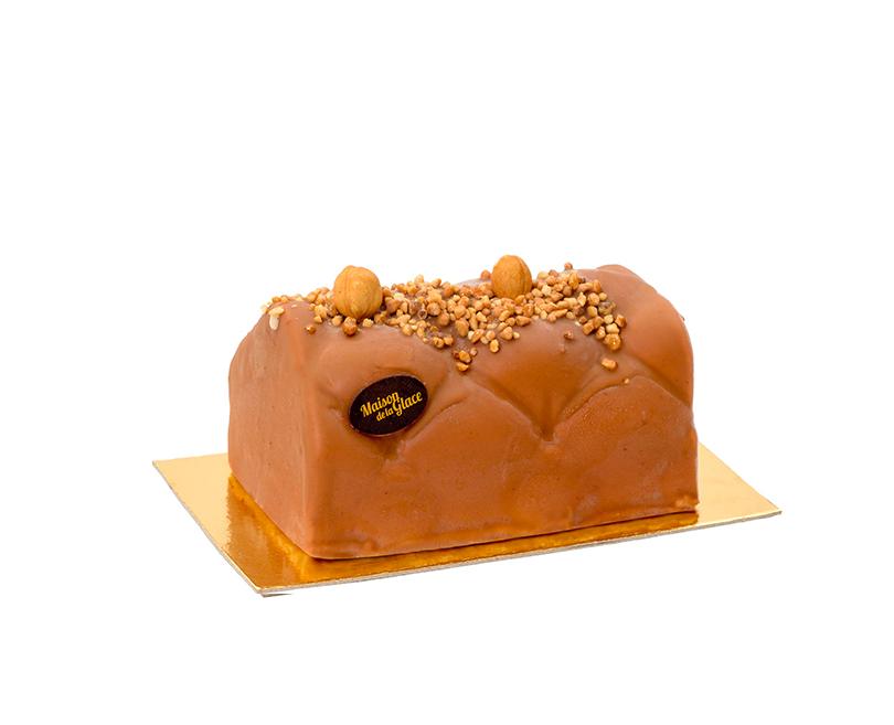 Maison de la Glace bûche glacée Praliné Chocolat